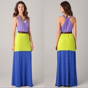 C&C California Color Block Maxi Dress Size S